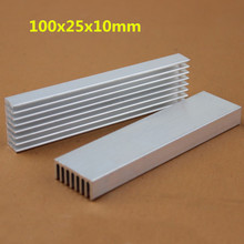 2 Pieces/lot 100x25x10mm Cooler Radiator Cooling DIY Aluminum Heatsink For LED
