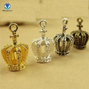 MINGXUAN 10pcs 20x13x11mm Crown Charms pentagram Pendant Zinc Alloy Fit Bracelet Necklace DIY Metal Jewelry Findings
