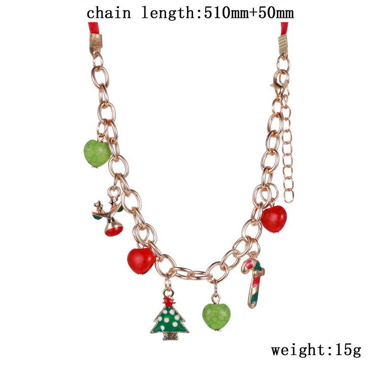 New Fashion Long Necklaces Christmas Jewelry Girl\'s Gift Gold Color ...