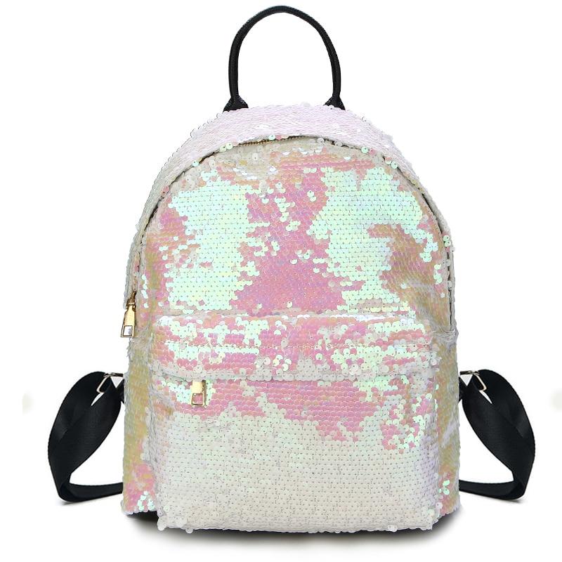 Aliexpress.com : Buy Glitter Backpack Women Sequin Backpacks Teenage Girls  Bling Rucksack Fashion Brand Gold Black School Bag Sequins mochila XA1059H  from ...