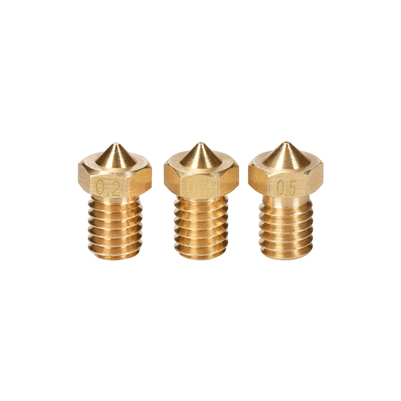 3D Printer Parts 3D V5&V6 J-Head 3D Brass Nozzle Extruder Nozzles 0.2/0.25/0.3/0.4/0.5/0.6/0.8/1.0 mm For 1.75mm/3.0mm Filament3D Printer Parts 3D V5&V6 J-Head 3D Brass Nozzle Extruder Nozzles 0.2/0.25/0.3/0.4/0.5/0.6/0.8/1.0 mm For 1.75mm/3.0mm Filament