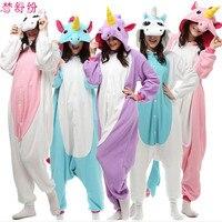 2016 New Arrival Unicorn Pajamas Winter Kawaii Anime Hoodie Pyjamas Cosplay Adult Onesies Christmas Costume Unicorn