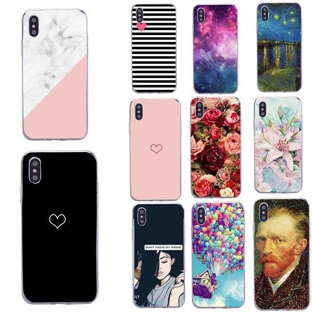 Fundas para funda de teléfono funda iphone xr accesorios funda de silicona para iphone 6 s iphone x xs max xr 7 8 Plus 7 Plus 6 6 S 5 5 5S SE Coque
