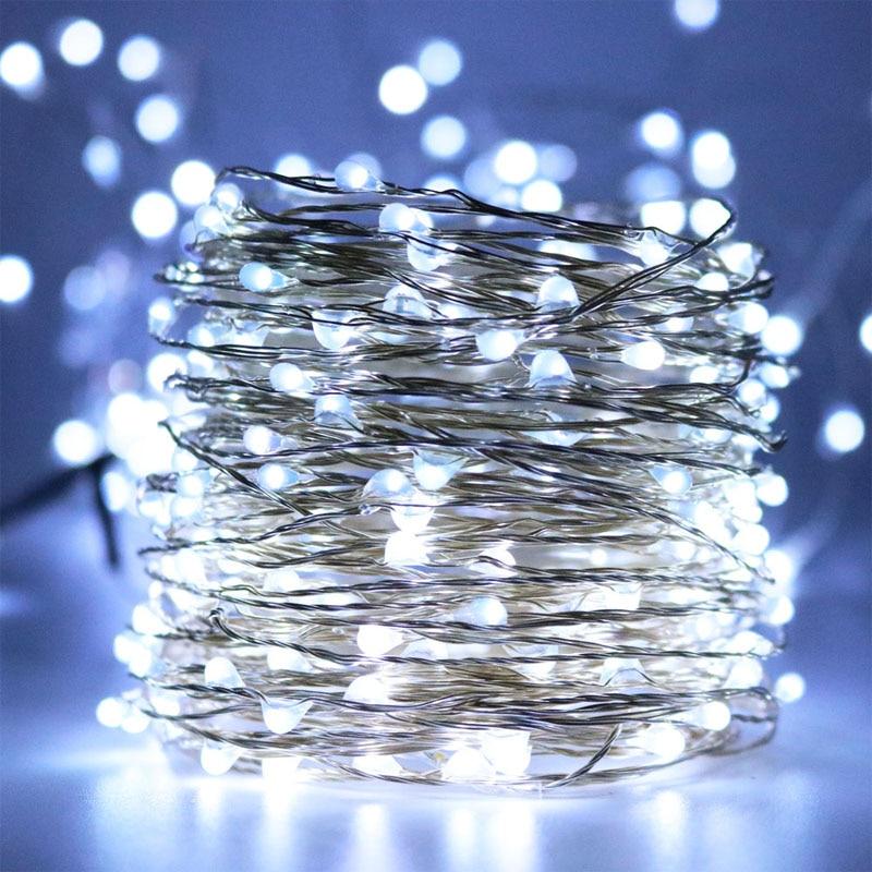 20M 66ft LED Vízálló Starry String Lights, Decor Kötélfények - Üdülési világítás