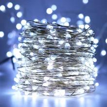 Luzes estreladas impermeáveis da corda do diodo emissor de luz de 20M 66ft, luzes da corda da decoração para o feriado decorativo sazonal do Natal, casamento, partidos