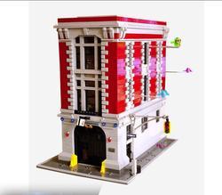 DHL 16001 4695 Pcs Blocchi di Ghostbusters Firehouse Sede di Costruzione di Modello Kit Modello set Compatibile lWith 75827