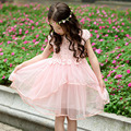 flower girl dresses tulle yellow pink princess costume children party frock 6Y toddler girls clothing fancy frocks kids clothes