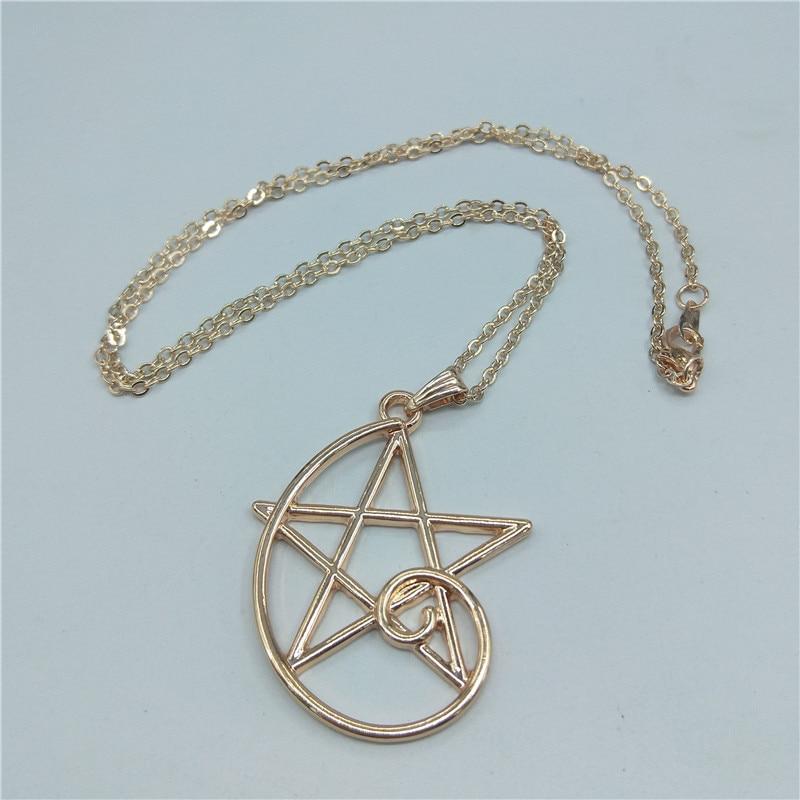 Hot Fashion Fibonacci Color golden ratio Pendant, Fibonacci sequence necklace, wearable math, simple five-pointed star necklace