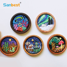 Sanbest Suzhou Embroidery Kits DIY 3D Needlework Practice Cross Stitch Material Suit Frame Thread Child Mini Gift
