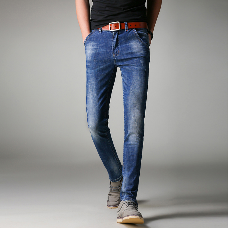 ФОТО 2017Jeans Men  New Arrival  Brand Clothing Blue Slim Fit Casual Stretch Denim Pants High Quality Plus Size Free Shipping