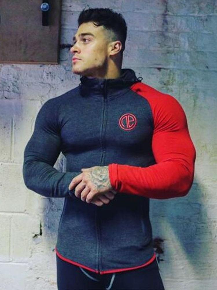 2017Men sweatshirt hoodie Hip Hop Mens fesyen Brand Leisure Zipper - Pakaian lelaki - Foto 2