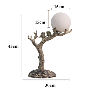 Image 4 - Modern Resin Led Bird Lamp Table Lights Living Room Bedside Bedroom Lamp Study Cafe Personality Home Deco Art Desk Table Lamps