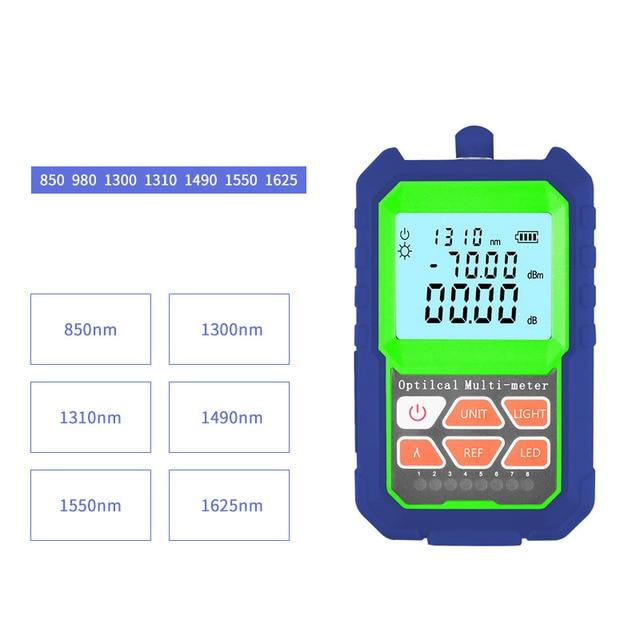 Handheld  RJ45 Optical Light Source With LED illuminat FTTH Optic Laser power meter Equipments Fiber tester SC/FC/ST Connector