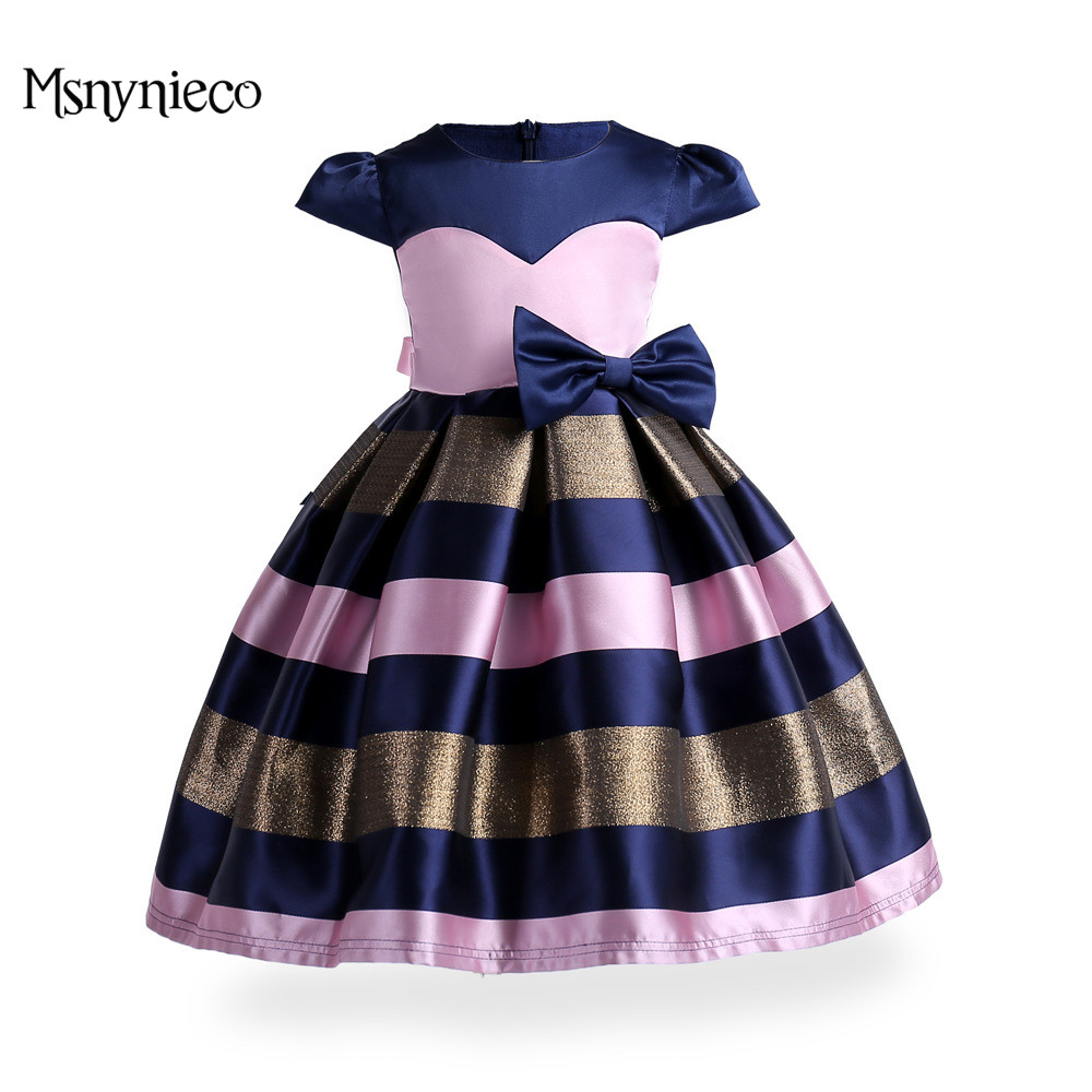 Girls Dresses 2017 Brand Kids Sleeveless Birthday Party Princess Dress Children Clothing Toddler Elegant Pageant Vestido 3-9Y toddler kids baby girls princess dress party pageant wedding dresses with waistband