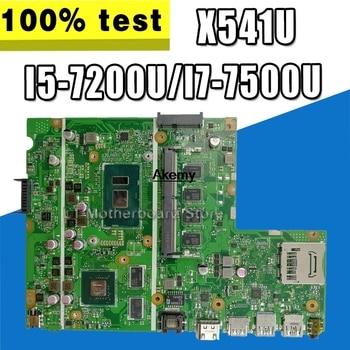 laptop Motherboard For ASUS F541U R541u X541U X541UV X541UVK  Mainboard 8G/4G RAM  I5-7200U/I7-7500U  (V2G)  exchange!!!