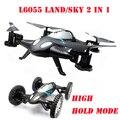 L6055 Land & Sky 2 em 1 alta segure modo carro do vôo com 3D Flips RC Quadcopter Airphibian carro voador RTF
