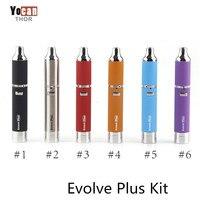 Original Yocan Evolve Plus Kit Evolve Wax Pen Kit Quartz Dual Coil Wax Vaporizer 1100mah Battery