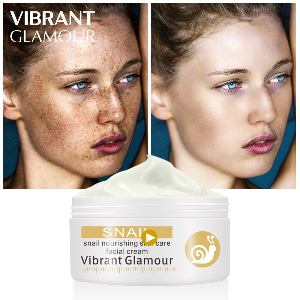 VIBRANT GLAMOUR Repairs Snail Face Cream Remove Wrinkles Acnes Cream Whitening Pigment Spots Brighten Skin Wrinkle Control OilVIBRANT GLAMOUR Repairs Snail Face Cream Remove Wrinkles Acnes Cream Whitening Pigment Spots Brighten Skin Wrinkle Control Oil