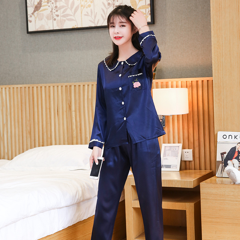 Spring /Autumn Women   Pajama     Sets   silk Pijama Home Pyjamas Woman Winter Cotton   Set   Feminino Velutum Sleepwear Mujer Women Pijamas