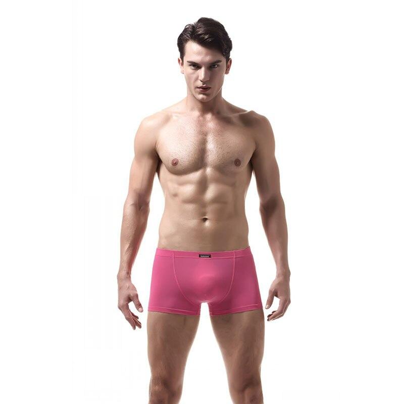 KWAN.Z male underwear gay men boxer big bag boxers cueca ice silk underwear men panties for men calzoncillos hombre masculina