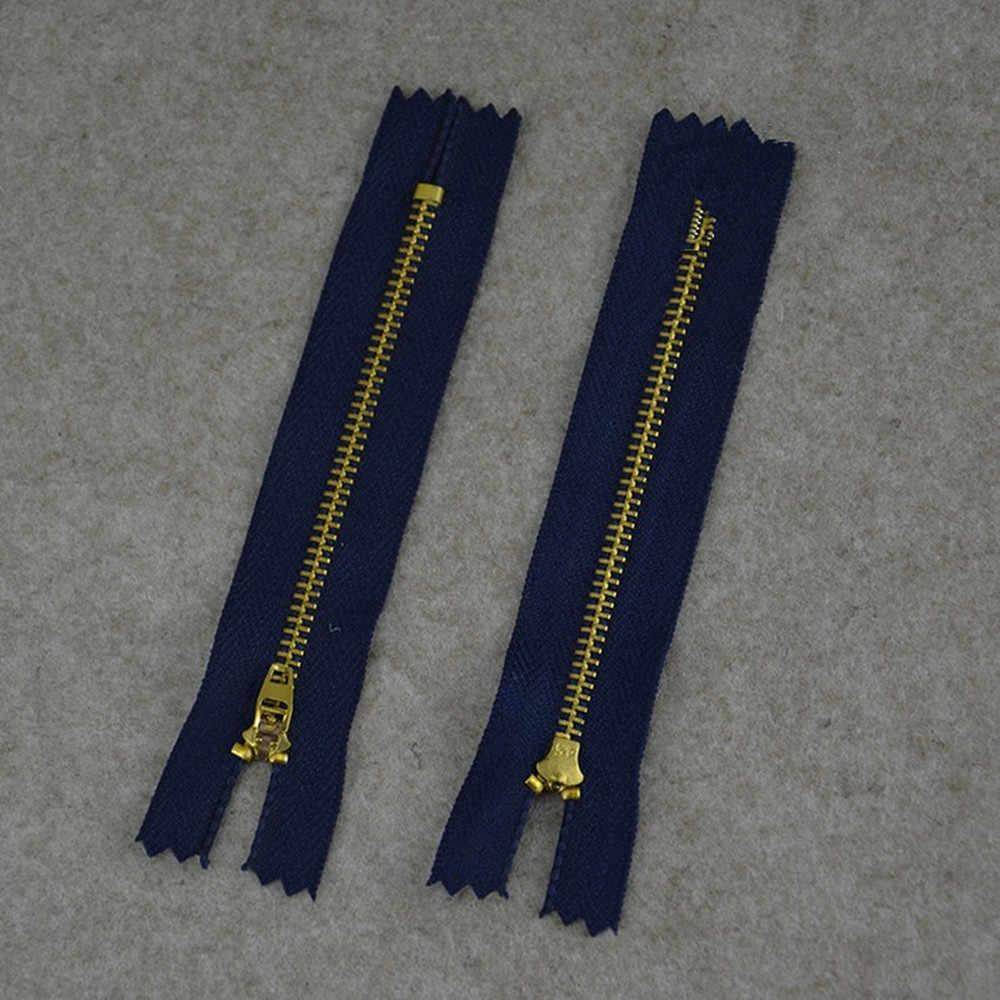 10 pcs/lot fermeture à glissière métal fil métallique couture fermeture à glissière accessoires jeans pantalons décontractés fermeture à glissière bricolage vêtements acce