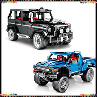 1343/1288PCS Building Blocks Car Simulation Benz G500 Raptor F150 Technic Car Block Set Bricks Toys Educational Toy For Kids