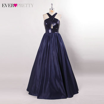 Prom Dresses Long Ever Pretty Sexy Backless Sleeveless Sequined Formal Dresses EP07858NB Elegant Party Gowns Robe De Bal Fille 5