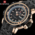 Men sport Watches NAVIFORCE luxury brand men's quartz watch steel band hot wristwatches for men 30M waterproof relogio masculino
