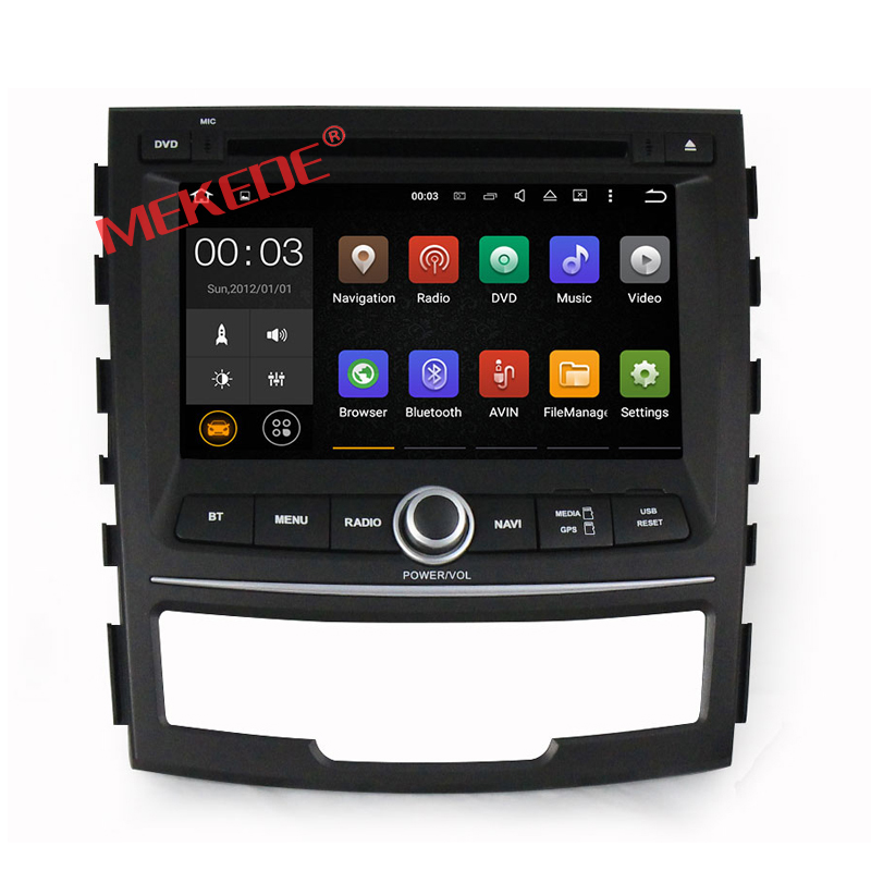 1024*600 screen Car dvd Player For ssangyong korando 2010-2013 with GPS navigation radio BT wifi Android 5.1.1 Quad core