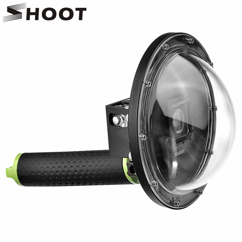 Disparar 6 pulgadas submarino buceo Dome puerto para GoPro Hero 4 3 + cámara con Go Pro float grip dome para GoPro Hero 4 accesorio
