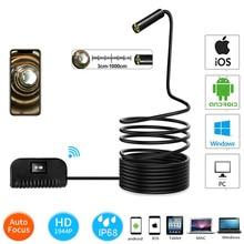Камера с автофокусом, wifi, эндоскоп, 1944P HD, 5,0 мегапикселей, мини камера для осмотра, водонепроницаемая, для IOS/Android, бороскоп 19