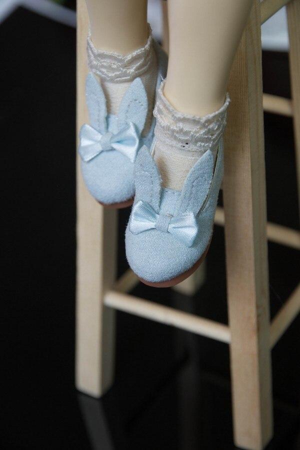 BJD doll shoes cute rabbit warm blue warm white shoes for 1/3 1/4 1/6 BJD SD10 DD MSD YOSD JP Doll beautiful cute shoes js 081 bjd shoes pu shoes sd msd doll shoe factory sales directly