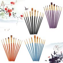 40pcs/set Pro Artist Paint Brush Nylon Hair Watercolor Acrylic Oil Painting Drawing Supplies Art Crafts недорого