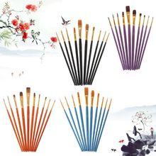 цена на 40pcs/set Pro Artist Paint Brush Nylon Hair Watercolor Acrylic Oil Painting Drawing Supplies Art Crafts