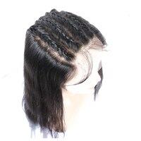Прозрачный полный кружево парик с волосами младенца средства ухода за кожей волна бразильский полный натуральные волосы Искусственные пар