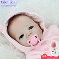 Full Body Silicone Bebe Doll Reborn 22 Inch Vinyl Realistic Collectible Doll Reborn Whole Silicone