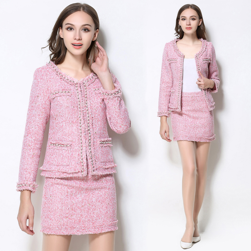 New Autumn and winter Design 2 Piece Clothing Set Women 39 s Long Sleeve Elegant Blouses above Knee Pencil Skirt Suit in Women 39 s Sets from Women 39 s Clothing