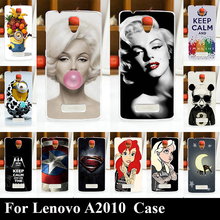 For Lenovo A2010 HARD Plastic Mobile Phone Cover Case DIY Color Paitn Cellphone Bag Shell