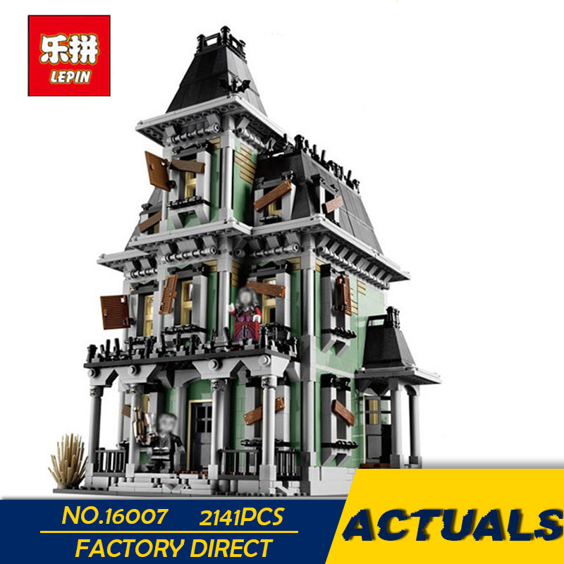 LEPIN 16007 2141Pcs Monster fighter The haunted house Model set Building Kits Model Compatible With 10228 lepin 16007 2141pcs monster fighter the haunted house model set building kits model compatible with 10228 educational toys gifts