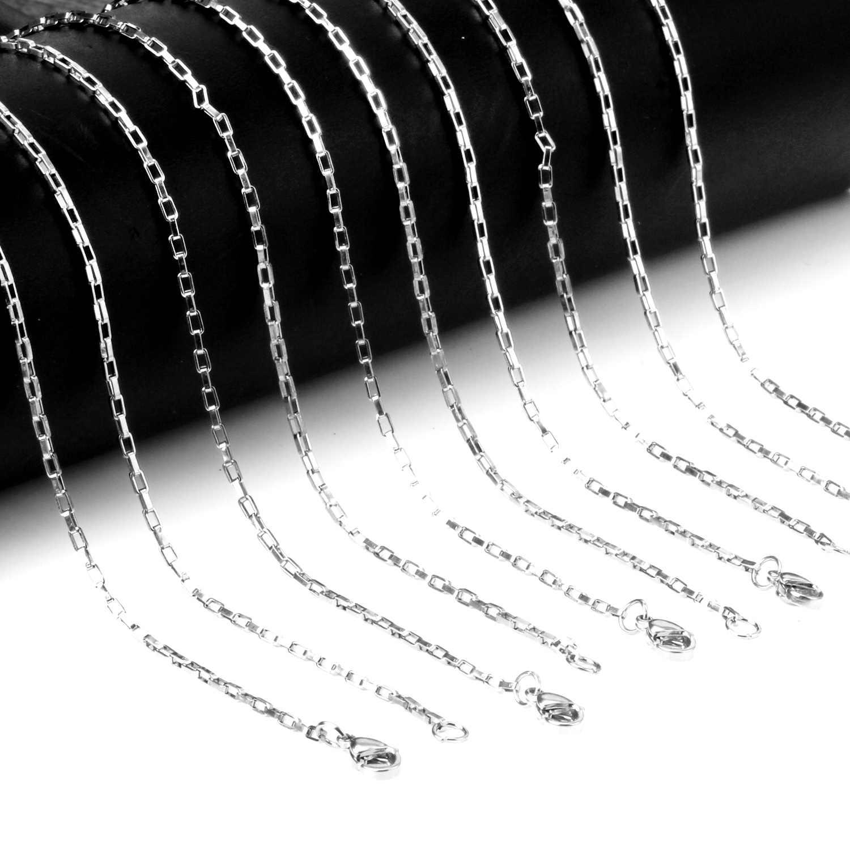 LUXUKISSKIDS 10 ชิ้น/ล็อต 45 ซม.-60 ซม.ความยาว 2 มม.crosschain สแตนเลสสร้อยคอแฟชั่นเชื่อมโซ่โซ่เสื้อกันหนาวเครื่องประดับเลดี้
