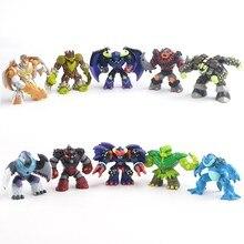 Gormiti figurine de dessin animé, poupées de Style mixte, gomme atomique, soldats du volcan les seigneurs de la nature, répétition, 50pcs 5 10cm