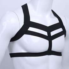 Sexy Lingerie Men's Elastic Straps Short Shirt Disciplin Bondage Hot Men Tops Harness Male Gay Fetish Lingerie Bondage Man Queen