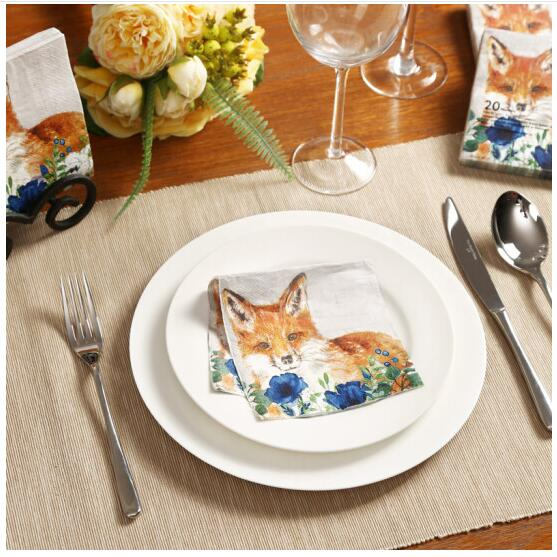 Cocktail paper towels animal dog napkins for party 25*25cm 3 ply printed paper napkin 4NC6332-in Disposable Party Tableware from Home \u0026 Garden on ... & Cocktail paper towels animal dog napkins for party 25*25cm 3 ply ...