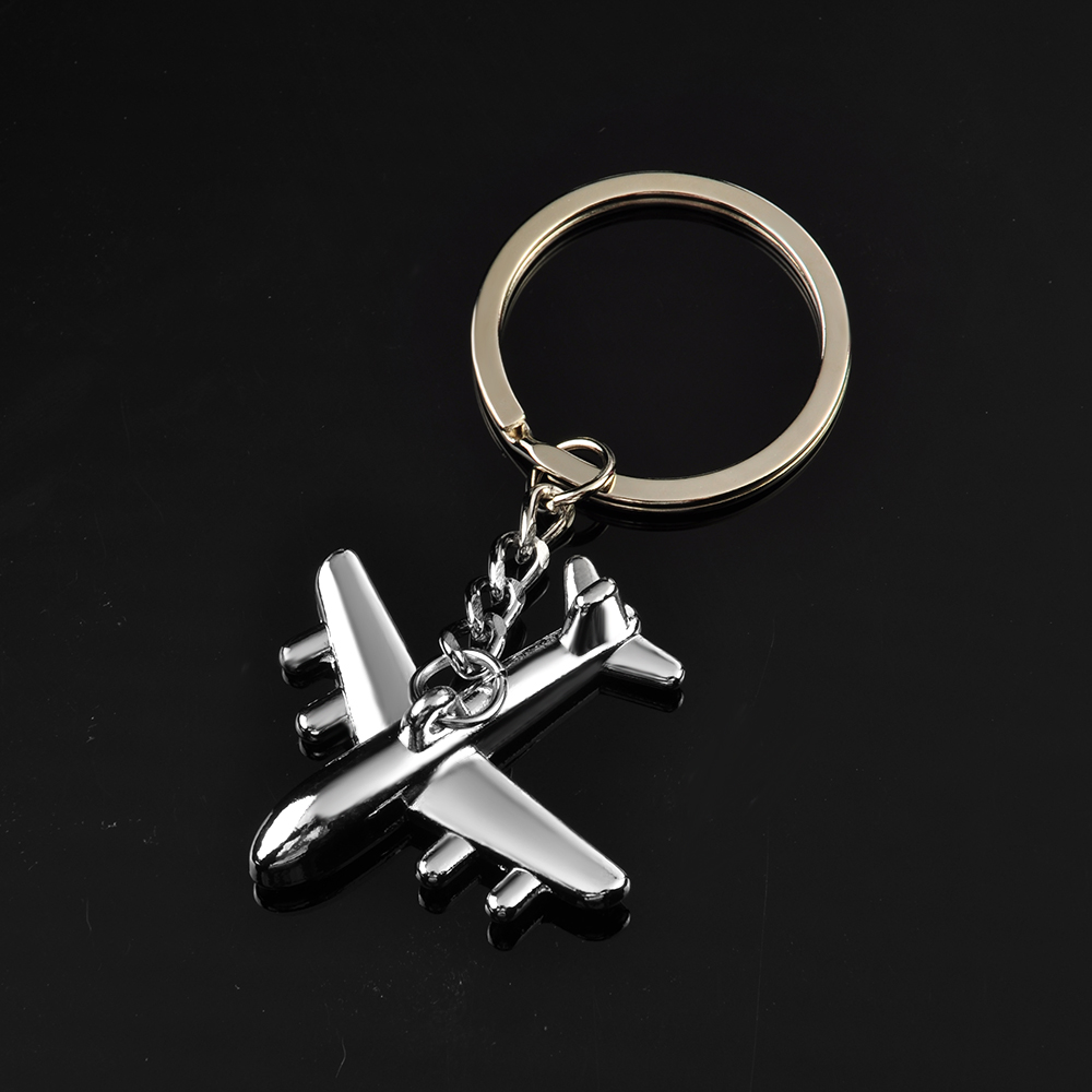 Fashion Women Men Creative 3D Simulation Model Airplane Phone Keychain Keyring Key Chain Key Ring Jewelry