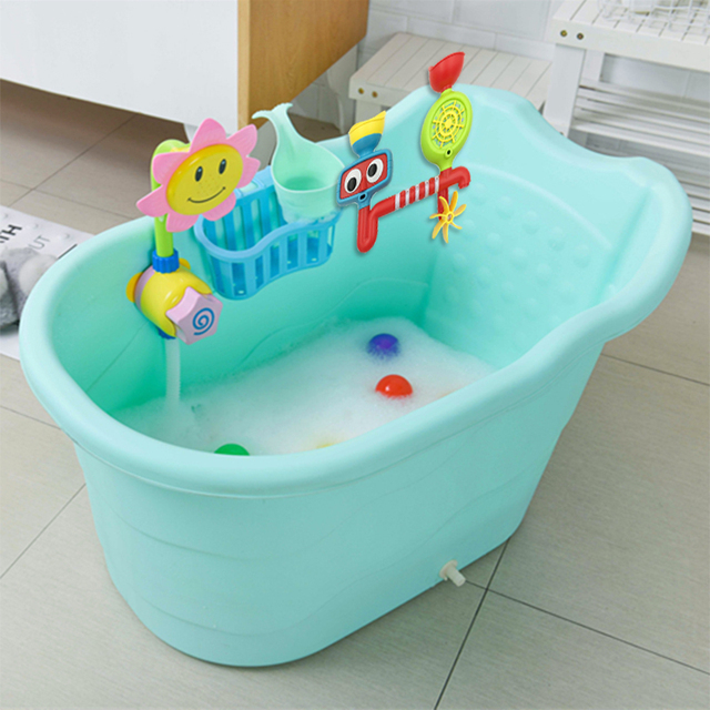 Aliexpress.com : Buy Large size children\'s bath barrel baby bathtub ...