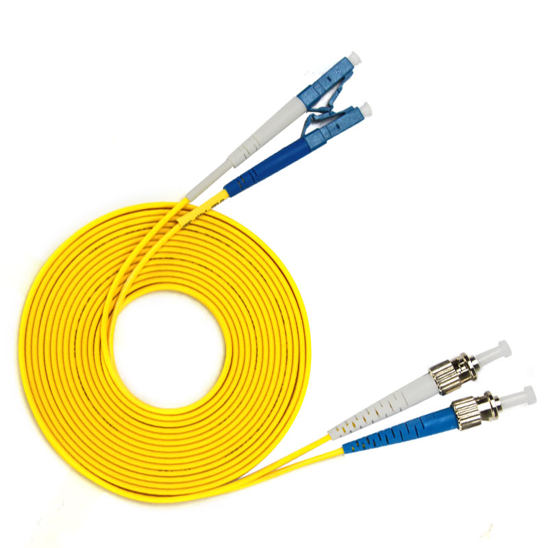 Lc To St Single-mode Optical Fiber Patch Cord Sm Lc/st Fiber Jumper Cabel Duplex 9/125 Upc Polish Ofnr 3m 5m 10m 15m Communication Equipments Fiber Optic Equipments
