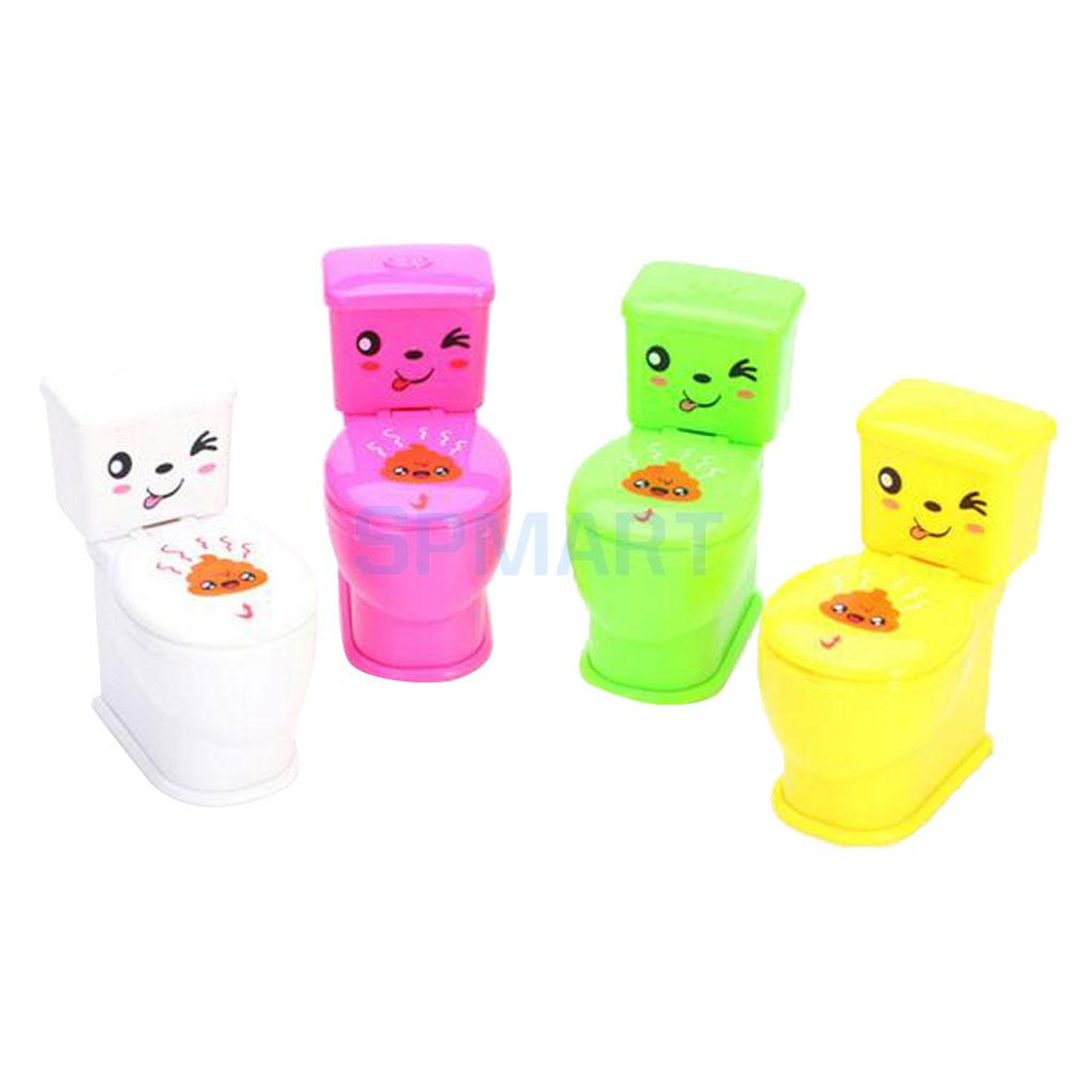 Случайный 1 шт. хитрый брызг воды Closestool игрушка белый шутки дети Туалет Игрушечные  ...