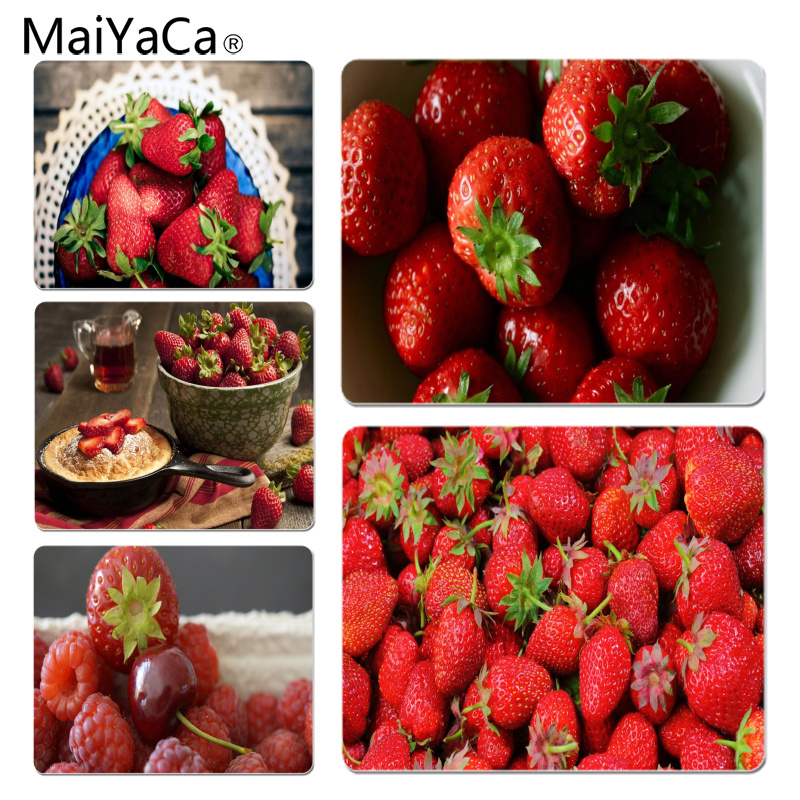 MaiYaCa Strawberries Large Mouse pad PC Computer mat Size for 18x22x0.2cm Gaming Mousepads