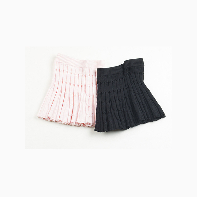new arrive black and pink Cotton thread knitted skirts casual solid