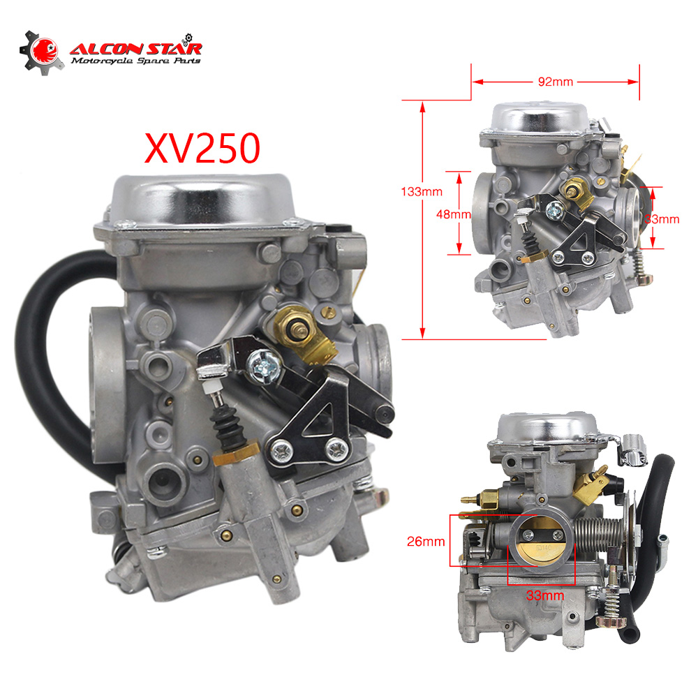 Alconstar Motorcycle <font><b>Carburetor</b></font> 26mm Replace Carb Assy For Yamaha Virago XV250 Route 66 Virago XV125 V-star <font><b>250</b></font> Riding Type image